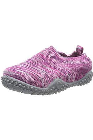 Playshoes Unisex-Kinder Strick Niedrige Hausschuhe, Pink (Pink 18)