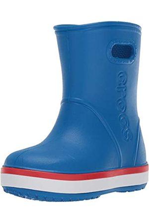 Crocs Crocband Rain Boot Kids, Unisex-Kinder Gummistiefel, Blau (Bright Cobalt/Flame 4kd)