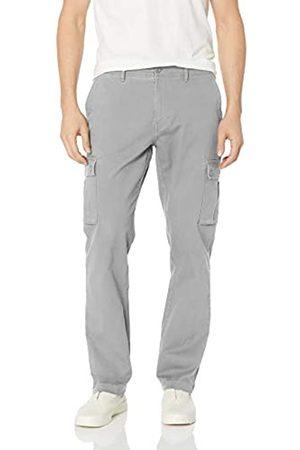 Amazon Herren-Cargohose, dehnbar, schmale Passform, light grey