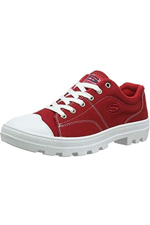 Skechers Damen Roadies-true Roots Sneaker, (Navy Canvas/White Leather Trim Red)