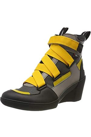 Art Damen 1563 Multi Leather Rotterdam Kurzschaft Stiefel, (Grey/Yellow Grey/Yellow)
