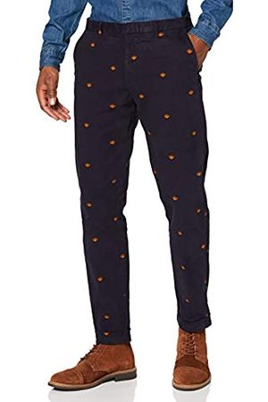 Scotch&Soda Herren AMS Blauw Stuart Chino in Seasonal Allover Print Hose
