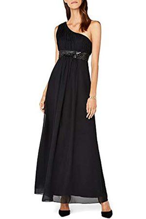 Astrapahl Damen Kleid One Shoulder mit Pailletten, Maxi, Einfarbig, Gr. 40