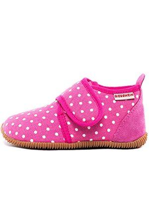 Giesswein Hausschuh Stans - Slim Fit - Kinder Hausschuhe Unisex | Bequeme Baumwoll Slipper | Mädchen Pantoffeln mit Punkten | rutschfest