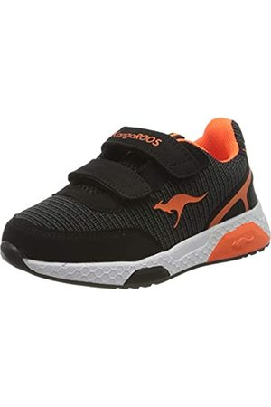 KangaROOS Unisex-Kinder Kadee Spin V Sneaker, (Jet Black/ 5061)