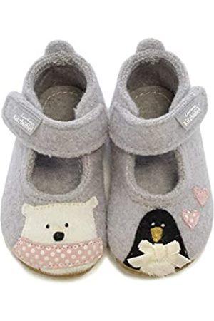 Living Kitzbühel Baby Mädchen Babyballerina Eisbär & Pinguin in Love Hausschuhe, (hellgrau 0620)