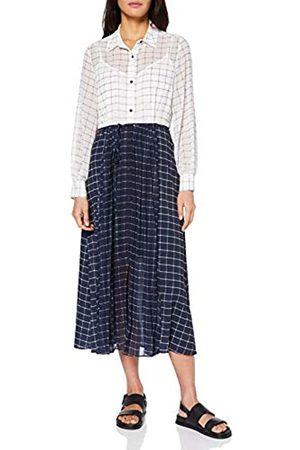 French Connection Damen Ayn Lässiges Business-Kleid, Summer White/Noct Marl