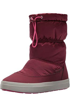 Crocs LodgePoint Shiny Pull-on Boot, Damen Schneestiefel, (Garnet/candy Pink)