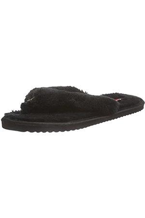 flip*flop Damen original fur Flache Hausschuhe, (Black 000)