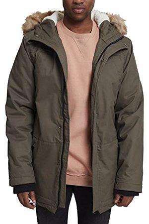Urban classics Herren Heavy Cotton Imitation Fur Parka