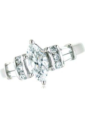 Vilma Righi Damen-Ring Zirkonia rhodiniert 925 Sterling Silber Gr. 52 (16.6)