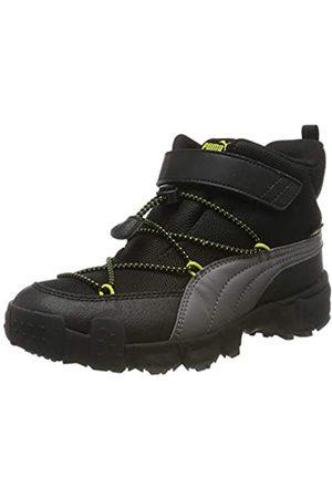 Puma Unisex-Kinder Maka Puretex V Ps Sneaker, (Castlerock-Nrgy Yellow)