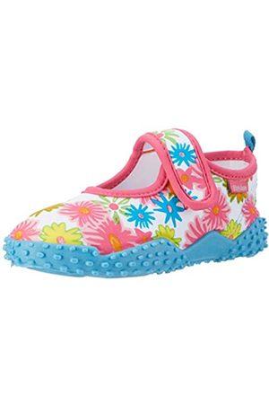 Playshoes Unisex-Kinder Badeschuhe Blumenmeer mit UV-Schutz Aqua Schuhe, Pink (pink)