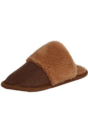 Woolsies Camelini Natural Wool Mule Slippers, Damen Warmgefütterte Hausschuhe