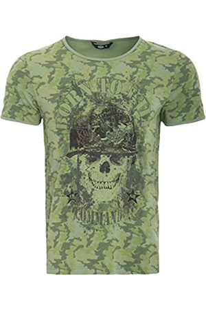 King kerosin Herren T-Shirt Mit Print Born to Kill Rundhals Kurzarm T-Shirt Print Regular Fit Tarnfarben Born to Kill