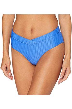 Seafolly Damen La Luna Retro 'V' Front Pant Bikinihose Baja Blue)