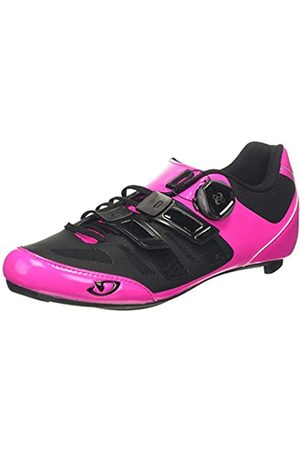 Giro Damen Raes Techlace Road Radsportschuhe-Rennrad, Mehrfarbig (Bright Pink/Black 000)