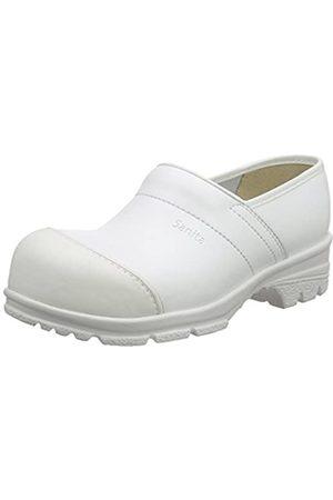 Sanita Workwear Unisex-Erwachsene San-Duty Closed-S2 Clogs, (White 1)