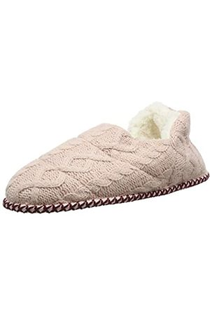 Dearfoams Damen Quilted Cable Knit Bootie Hohe Hausschuhe, Pink (Dusty Pink 10663)