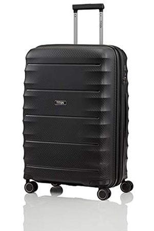 """Titan Super leichter Hartschalenkoffer """"Highlight"""" in 4 Größen im Carbon Look, Handgepäck mit Vortasche Koffer, 67 cm"""