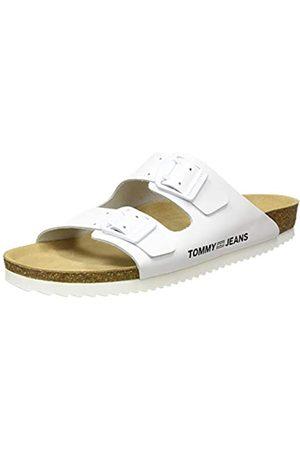 Tommy Hilfiger Damen Color Block Flat Geschlossene Sandalen, (White Ybs)