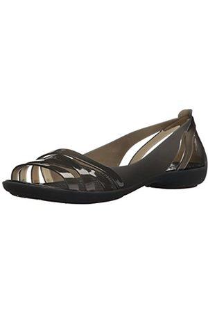 Crocs Damen Isabella Huarache Ii Flat Women Peeptoe Ballerinas, (Black 060)