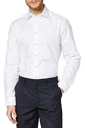 Seidensticker Herren Strukturiertes Hemd mit hohem Kent-Kragen – Passform Shaped Fit – Langarm – 100% Baumwolle Businesshemd