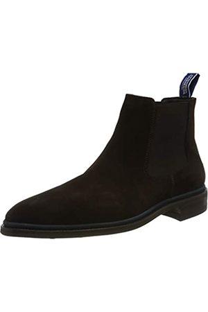 Floris van Bommel Herren 10669/02 Chelsea Boots, (Dark Brown Suede 02)