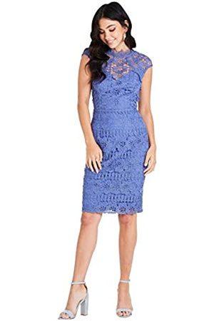 Little Mistress Damen Tamsin Blue Crochet Pencil Dress cocktailkleid