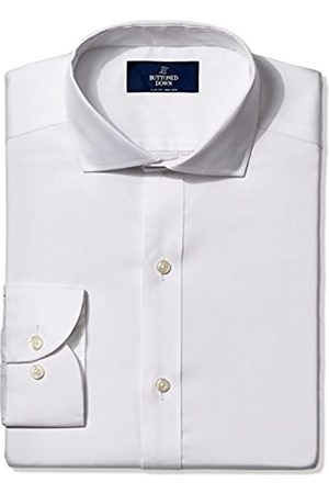 Buttoned Down Slim Fit Solid Pocket Options Smoking Hemd, White