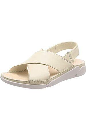 Clarks Damen Tri Alexia Slingback Sandalen, (White Leather White Leather)