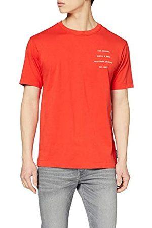 Scotch&Soda Herren Organic Cotton Crewneck Tee with clean Logo Artwork T-Shirt