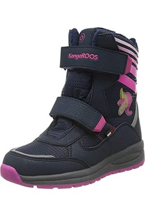 KangaROOS Unisex-Kinder Flashy SL RTX Schneestiefel, (Dk Navy/Daisy Pink 4204)