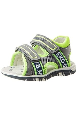Lumberjack Unisex-Kinder Billy Peeptoe Sandalen, (Grey/Acid Green M0629)