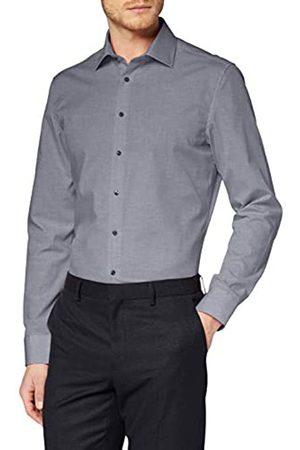 Seidensticker Herren Einfarbiges, Schickes Hemd Mit Extra Kent-Kragen – Slim Fit – Langarm Businesshemd