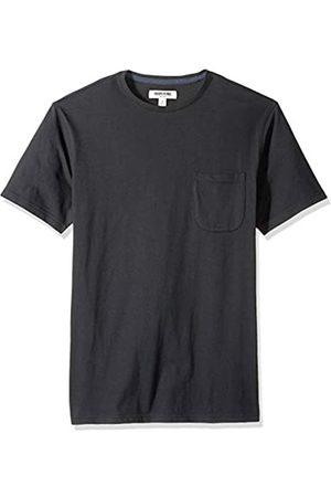 Goodthreads Amazon-Marke: Herren-T-Shirt Kurzarm mit Rundhalsausschnitt, aus Jersey in Wildlederoptik, Black