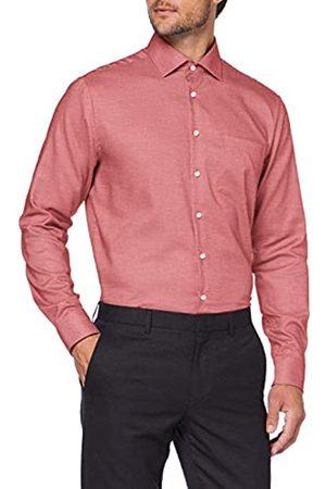Seidensticker Herren Modern Fit Langarm mit Business Kent-Kragen Bügelfrei Struktur-100% Baumwolle Businesshemd