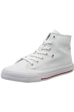 Tommy Hilfiger Damen Midcut Essential Sneaker, (White Ybs)