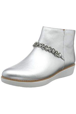 FitFlop Damen Pia Chain Metallic Kurzschaft Stiefel, (Silver 011)