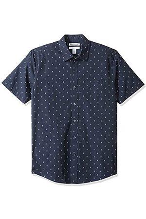 Amazon Herren Slim-Fit Kurzarm-Hemd gemustert