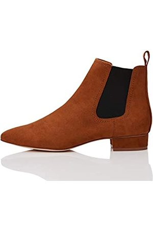 FIND Simple Chelsea Boots, Brown)