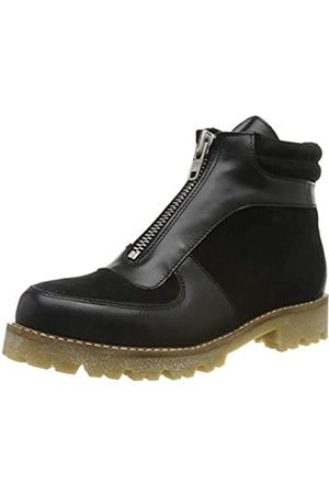 Pieces Damen PSHERLA Leather Boot Stiefeletten, (Black Black)