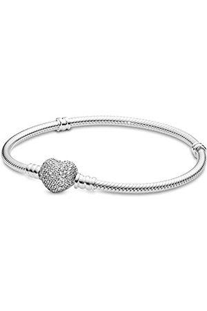 PANDORA Damen Armband mit Pavé-Herz-Verschluss 590727CZ-17