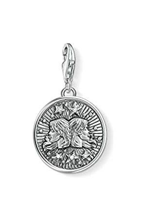Thomas Sabo Damen Herren-Charm-Anhänger Sternzeichen Zwilling Charm Club 925 Sterling Silber 1642-643-21