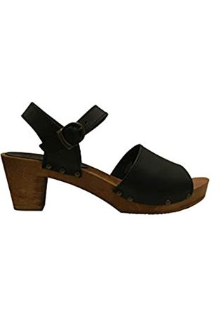 Sanita Enge Square Flex Sandale | Original handgemacht |Flexible Ledersandale für Damen