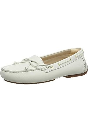 Clarks Damen C Mocc Boat Mokassin, (White Leather White Leather)