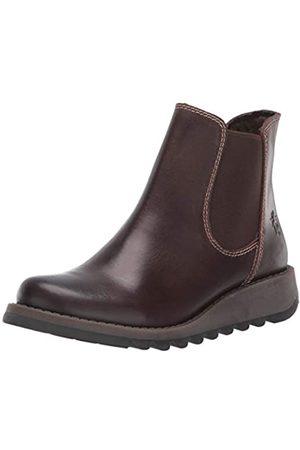 Fly London Damen Salv Chelsea Boots, (Darkbrown 001)