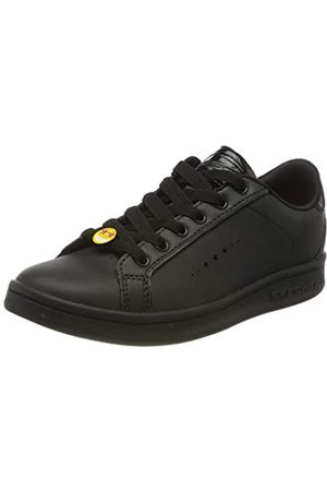 Skechers Mädchen Omne Class Star Sneaker, (Black Dura Leather BBK)