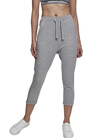 Urban classics Damen Ladies Open Edge Terry Turn Up Pants Sporthose