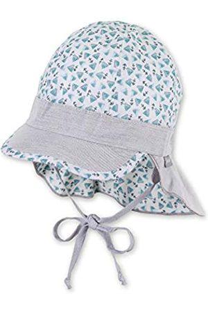 Sterntaler Baby-Jungen Schirmmütze Bindebändern, Nackenschutz und Muster mit Segelboot-und Anker-Motiven Mütze